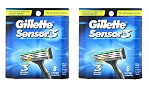 Gilete Sensor 3 - 8 Cartridges (2 Pack)=16