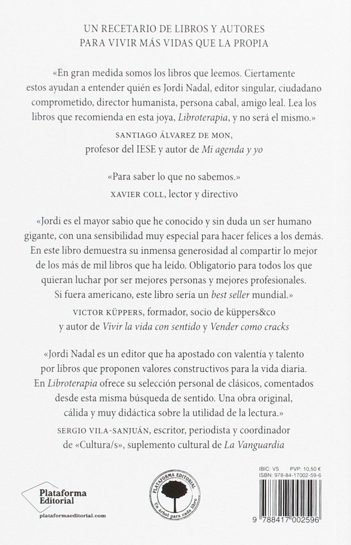 Libroterapia leer es vida (Spanish Edition): Jordi Nadal ...