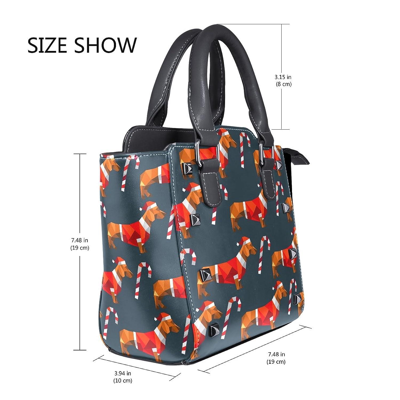 ee9b22c7de Amazon.com  DEYYA Women Dachshund Dog Polygon Zip Closure Shoulder Bag  Top-Handle Handbags PU Leather  Shoes