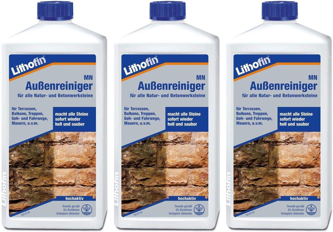 Lithofin MN Außenreiniger Naturstein Betonwerkstein 1 L Terrasse Gehweg Treppe