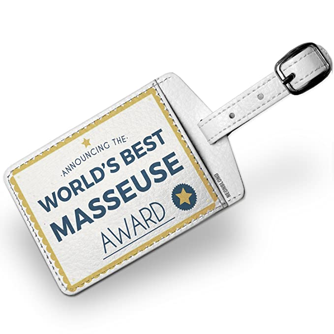 Amazon Luggage Tag Worlds Best Masseuse Certificate Award