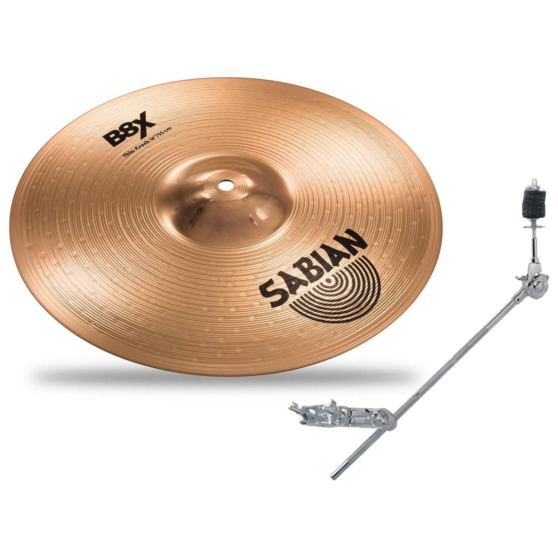 Sabian 41406X 14'' B8X THIN CRASH w/ Grabber Cymbal Arm