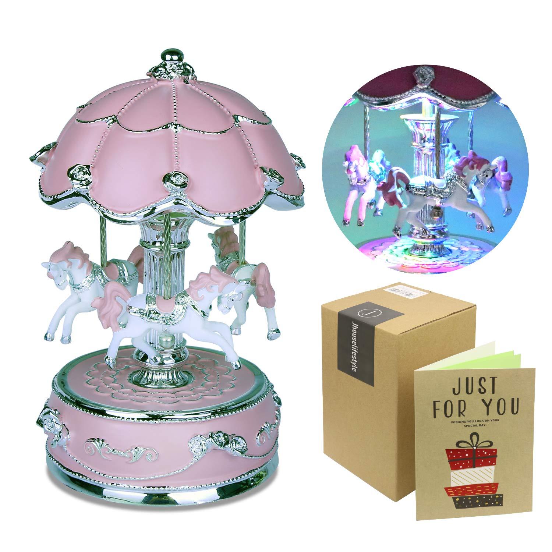 venta con descuento Jhouse Lifestyle - Caja Musical de Lujo Lujo Lujo con carrusel Giratorio, tamaño pequeño  despacho de tienda