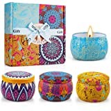 Yinuo Light Scented Candles Gifts Set for Women Aromatherapy Candles Upgraded Large Tin of Soy Candles for home Scented Laven