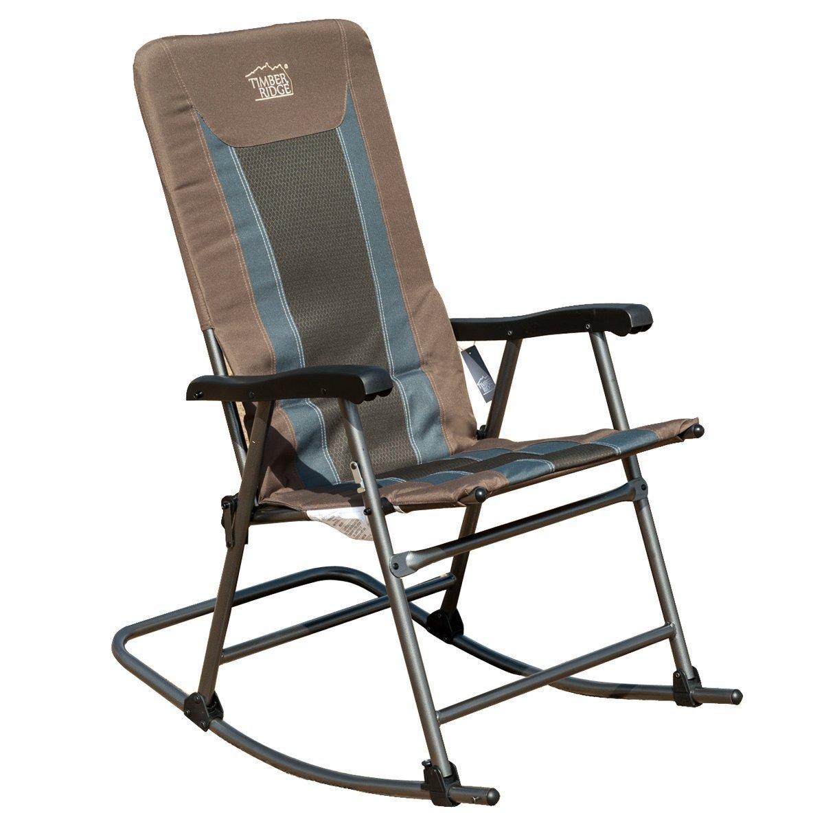 timber ridge smooth glide lightweight padded folding rocking chair 300lbs