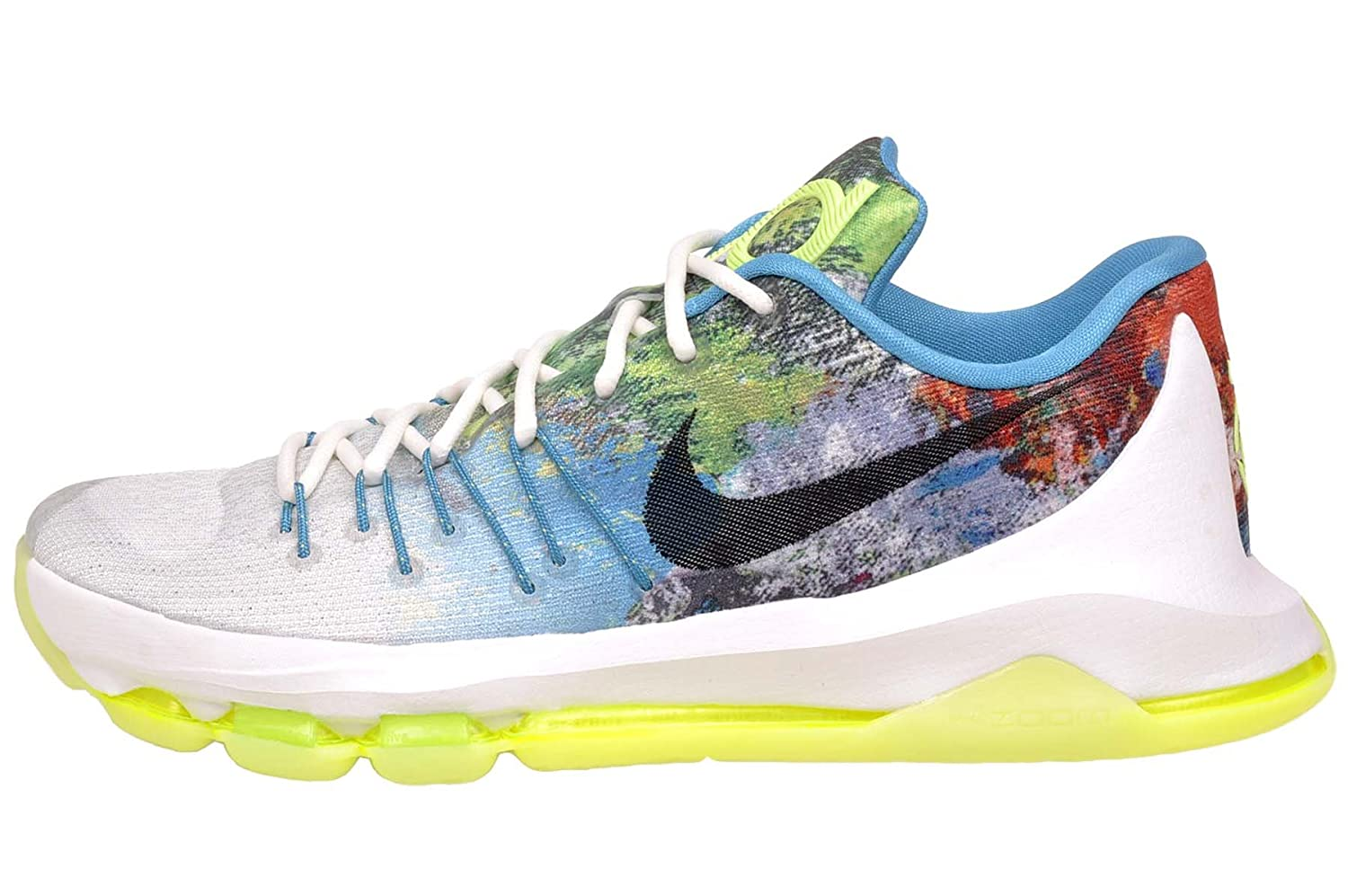 bf137b9885eb ... france amazon nike mens kd 8 n7 white black summit white light liquid  lime 10 m