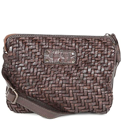 658550a48e Gianni Conti Siena Womens Woven Leather Shoulder Bag One Size Brown ...