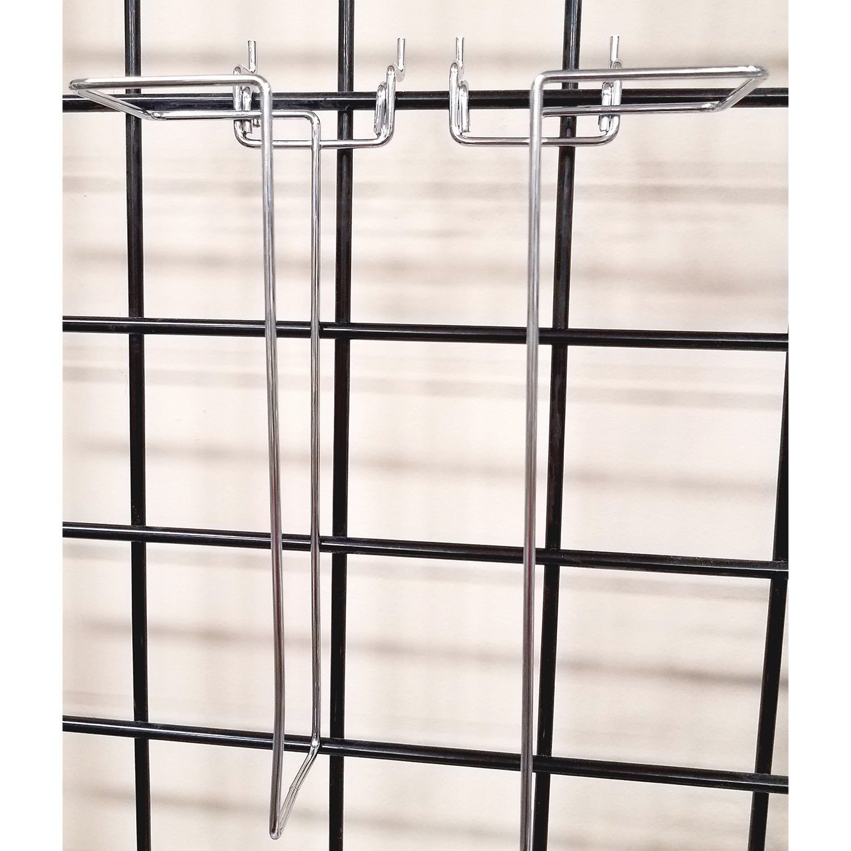 10 Pack Black Pegboard Gridwall Adjustable Width Brochure Magazine /& Literature Holder Slatwall