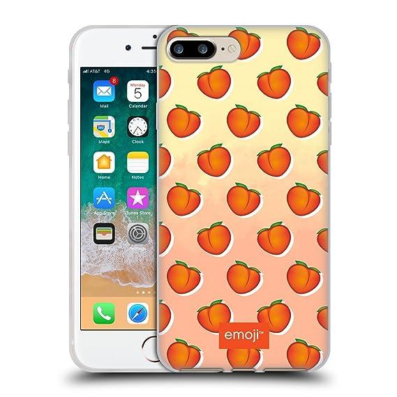 new product 55c0f e7e0a Amazon.com: Official Emoji Peaches Fruits Soft Gel Case for iPhone 7 ...