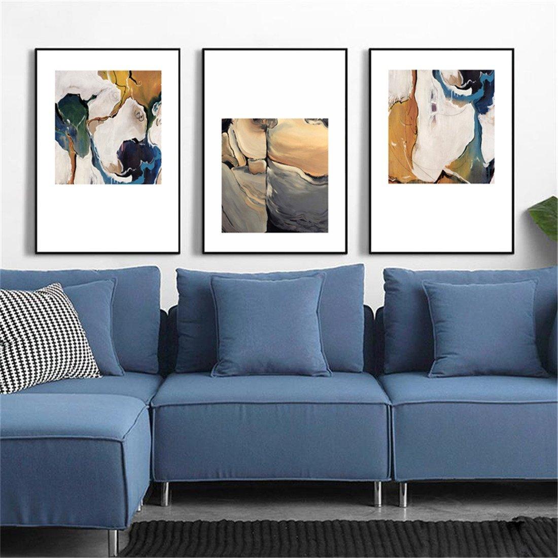 Bing BINGnórdico Salón Pintura Decorativa sofá Fondo Pared Pintura Pintura Triple Simple Mural de la Pared (40  60  3. 8 cm)