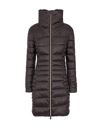 ddad9cfaf28c Save The Duck Women's Iris Winter Coat Brown Black 2-M at Amazon Women's  Coats Shop