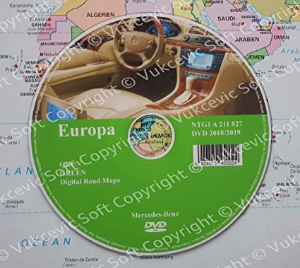 Mercedes Comand APS NTG1 Road Maps DVD 2018 Code Green: Amazon co uk