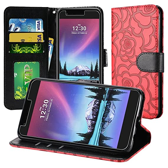 new concept 5244a 86174 For LG Aristo MS210 Case , LG Fortune M153 Case , LG Phoenix 3 M150 Case ,  LG Rebel 2 L58VL Case Luxury Leather Flip Magnetic Card Slots Wallet Cover  ...