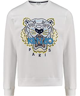 04319950c81 Kenzo Authentique Homme Tigre Blanc Tête Sweat-Shirt Coton