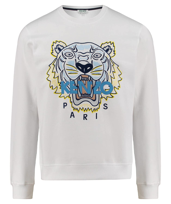 fddc03ca56 Kenzo Men's F855SW0014XA01 White Cotton Sweatshirt