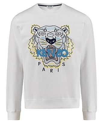 1dd6615a1 Kenzo Men's F855SW0014XA01 White Cotton Sweatshirt