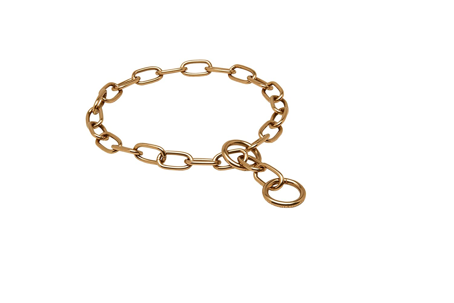 Herm Sprenger Curogan Fur Saver Choke Collar 1 9 inch (3 mm) Link Diameter Size 23 3 4 inch (60,5 cm) for Dogs with Neck Size of 21-22 inch (53-55 cm)