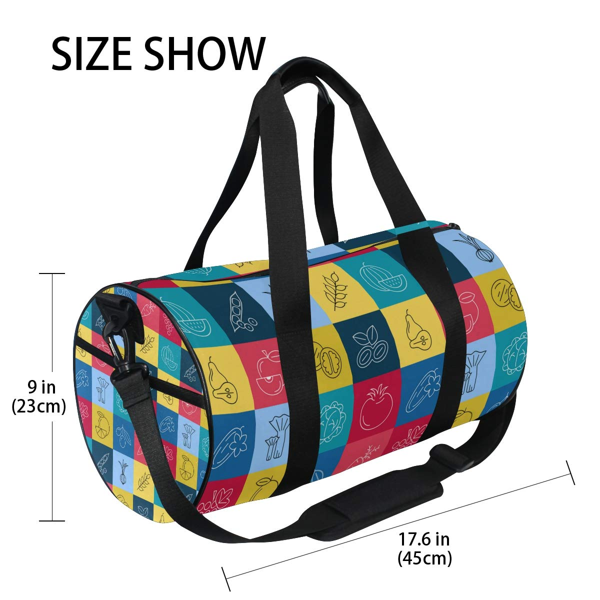 Waterproof Non-Slip Wearable Crossbody Bag fitness bag Shoulder Bag Vegetable Cuber Picture