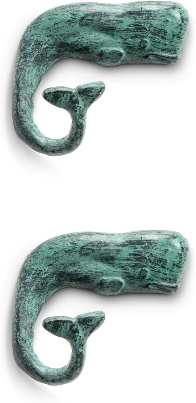 SPI Home Jonahs Whale Tail Wall Hooks Set of 2 Cast Iron 6 Inches