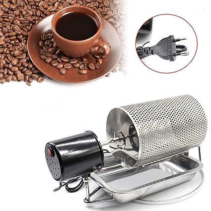 Z&Y Máquina de Tostador de café de Acero Inoxidable Frijoles Cacahuete Asador Tambor Horno Cesta 220V