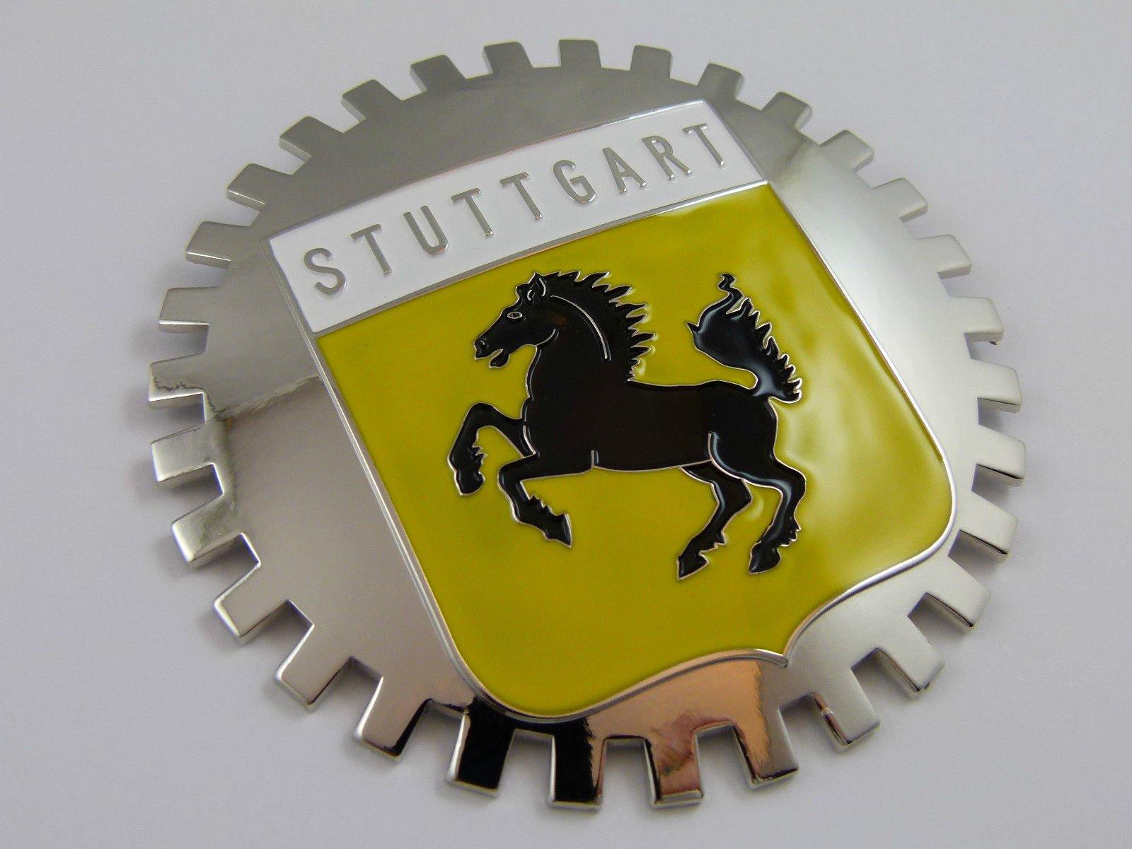 Aplique Parrilla Insignia Parrilla Stuttgart Bandera Alemana