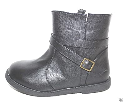 2d0a7c1fe214 Baby Gap Toddler Preschool Girls Black Moto Motorcycle Ankle Boots (6)