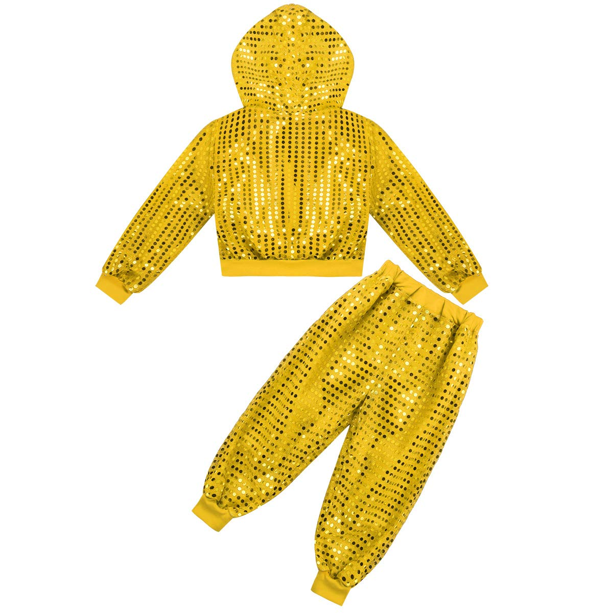 d9c22e0c3 ranrann Traje de Jazz Baile Callejero para Niño Niña Conjunto de Baile  Moderno Hip Hop Chaqueta con Lentejuelas + Pantalones Ropa de Rendimiento  Dancewear  ...