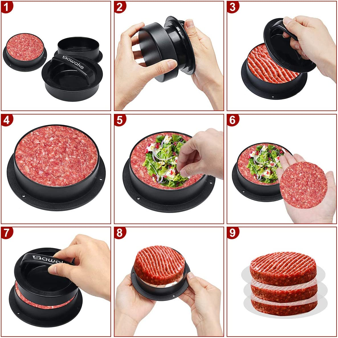 hacer hamburguesas de verduras con prensa
