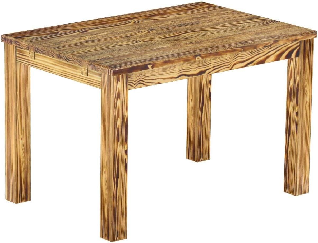 Brasil Muebles Mesa de Comedor Rio Clásico, 120 x 80 cm Quemado ...