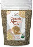 Jiva USDA Organic Ajwain Seeds 7oz - Packaged in Resealable Bag
