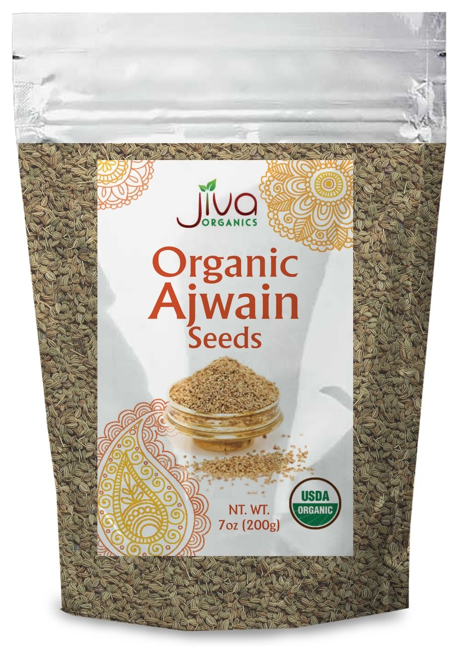 Jiva USDA Organic Ajwain Seeds 7oz - Packaged in Resealable Bag
