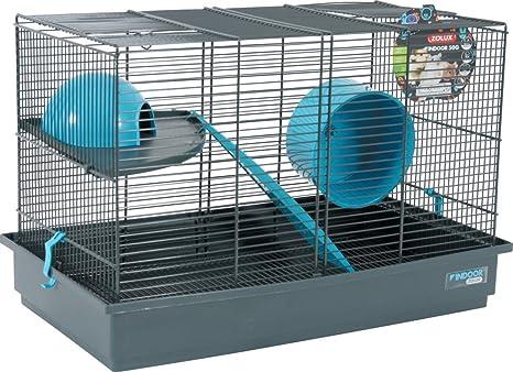 ZOLUX Indoor Jaula para jerbo ratón/hámster Azul 51 x 28 x 33 cm ...