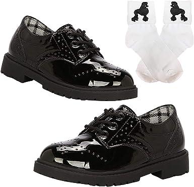 50s Girls Saddle Oxford Dress Shoes w