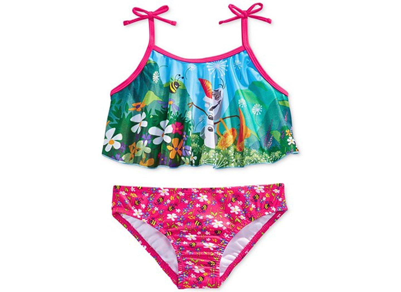 Disney Little Girls 2-Piece Frozen Swimsuit