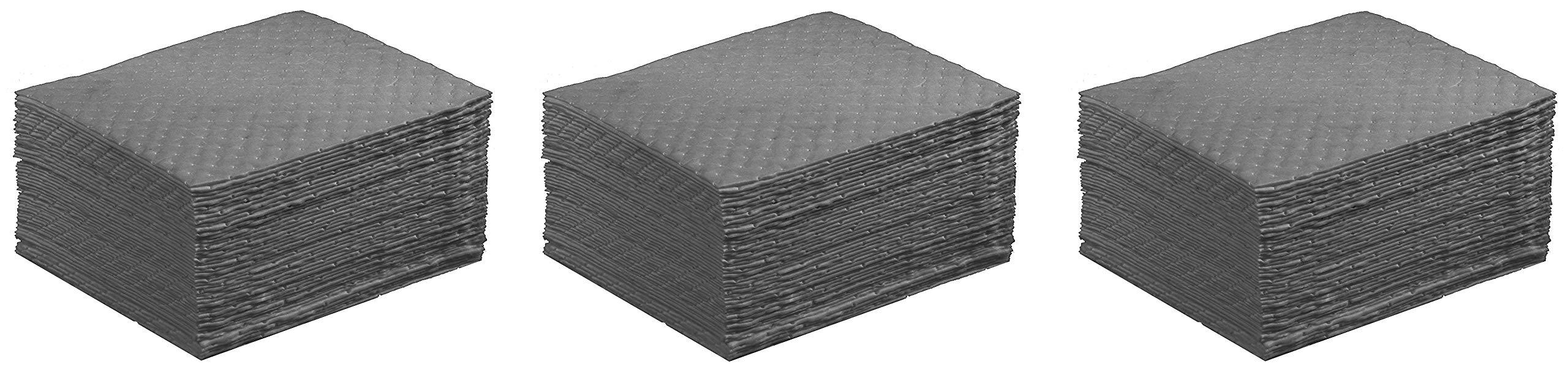 ESP 1AMGPL Airmatrix Polypropylene Heavy Weight Maintenance Universal Absorbent Laminated Pad, 18'' Length x 16'' Width, Gray (100 Per Bale) (3 X 100 Per Bale)