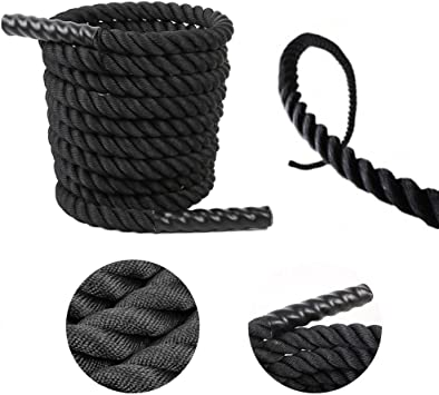 "30/' x 1.5/"" Poly Battle Rope CrossFit MMA Battling Strength Training Boot Camp"