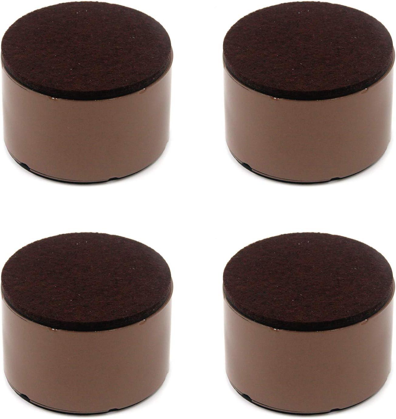 Tulead Round Furniture Risers Bed Riser Self-Adhesive Table Desk Riser Block Cabinet Post 3.15
