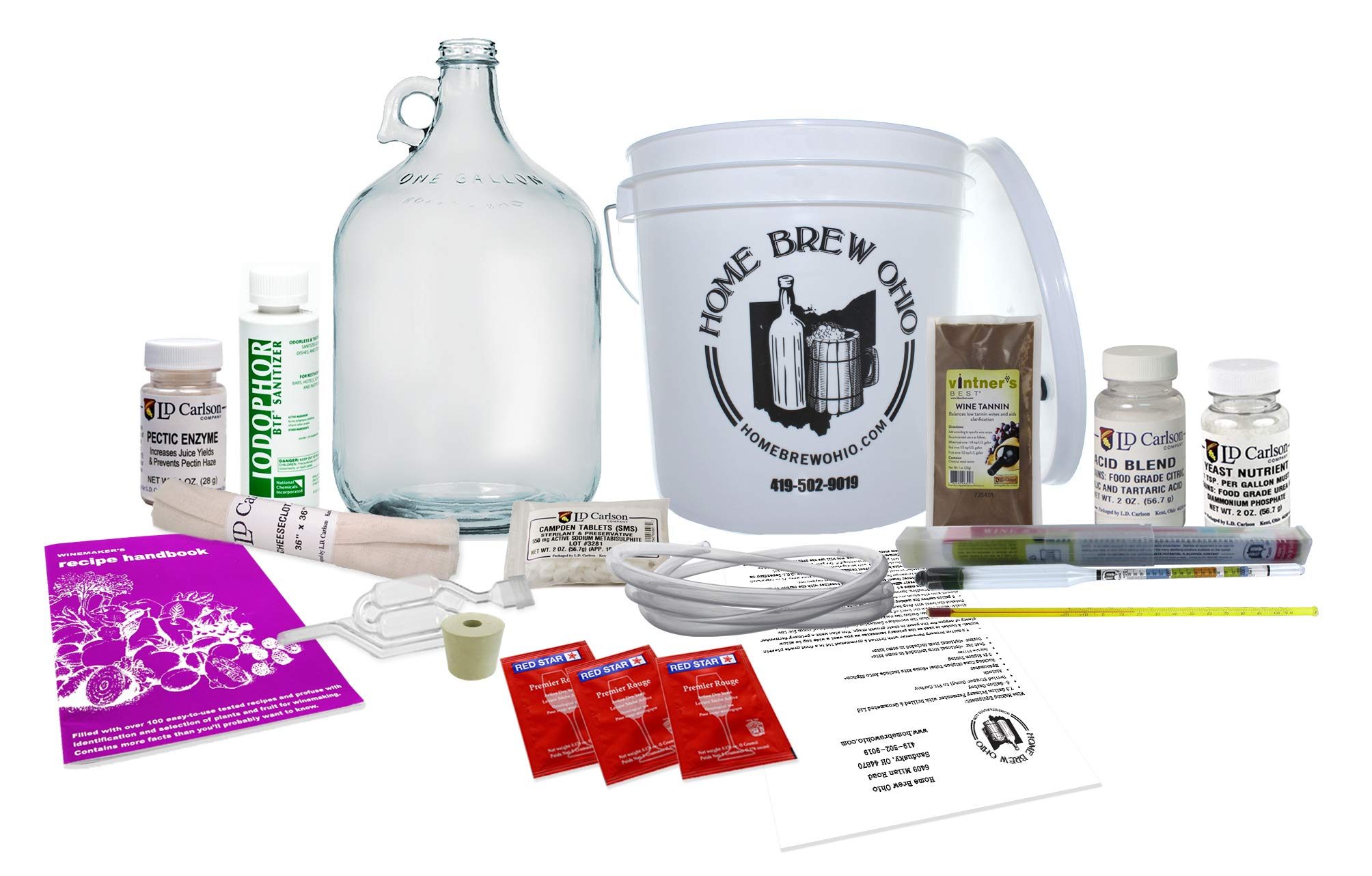 Grow and Make 13173 Deluxe Fruit Wine Making Kit by Grow and Make (Image #1)