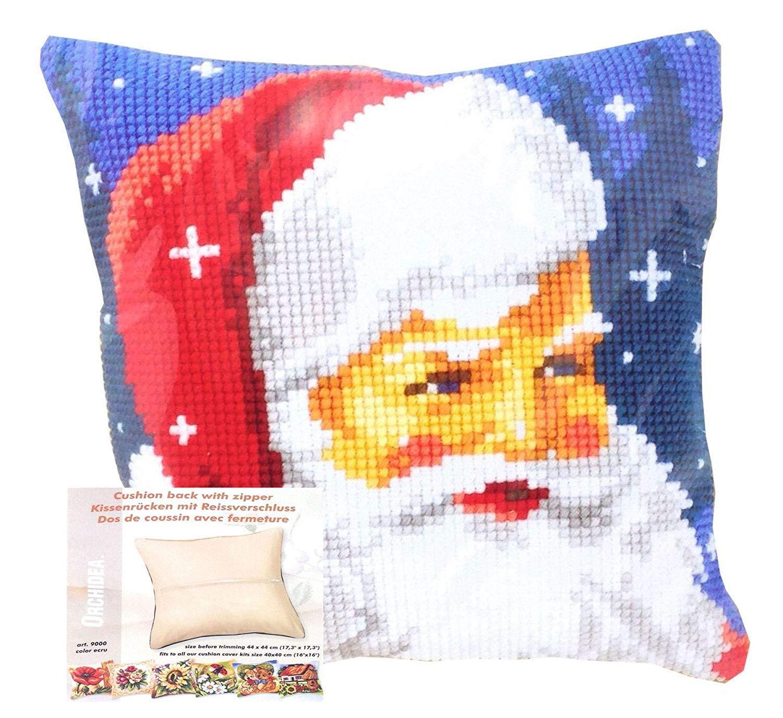 Papá Noel Navidad Cojín y Funda Cremallera Posterior 16
