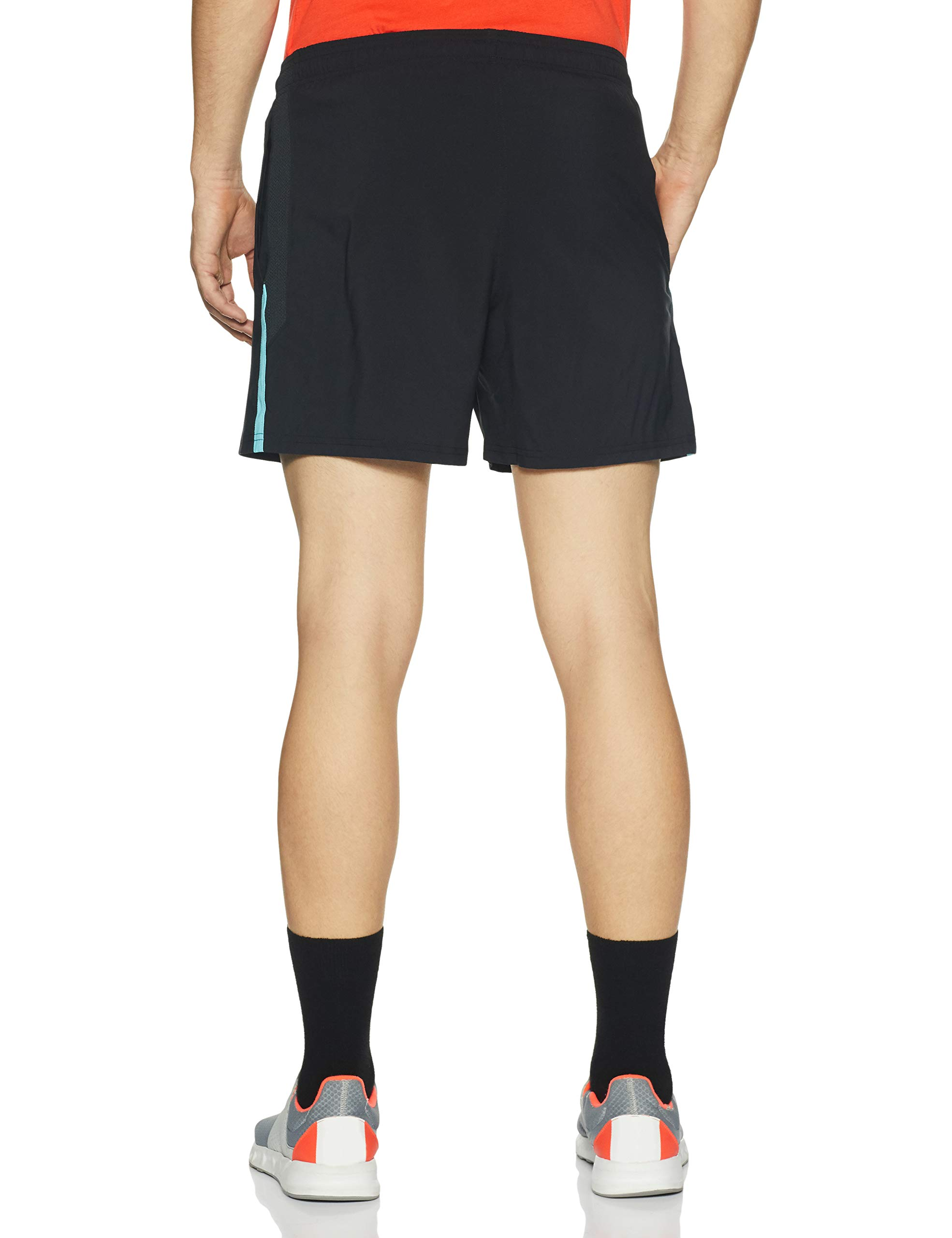 Under Armour Men's Launch SW 5'' Short, Black/Venetian Blue, X-Small by Under Armour (Image #2)