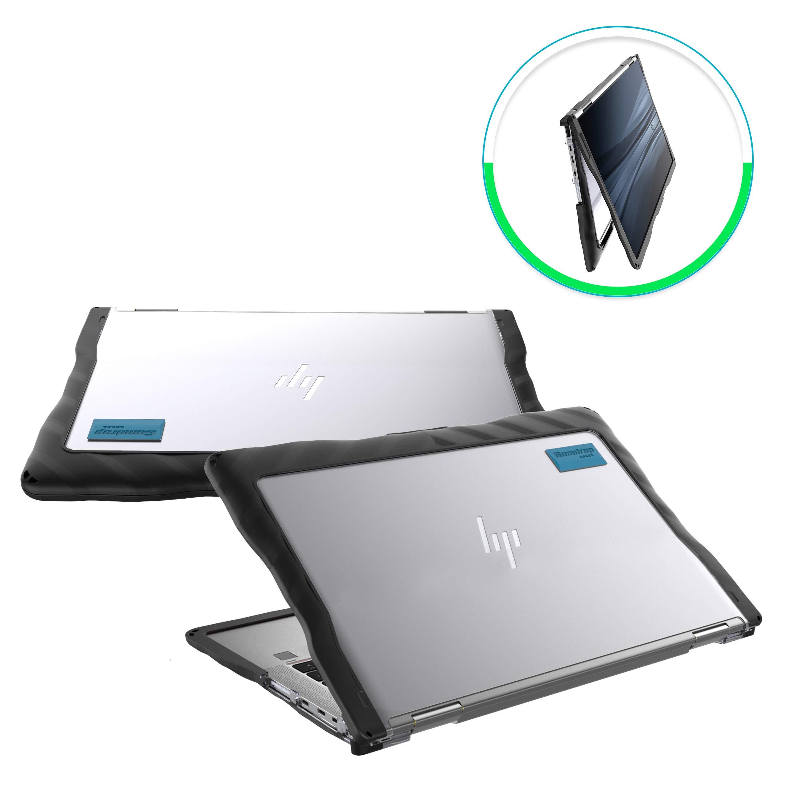 Gumdrop DropTech Case Designed for HP Elitebook x360 1030 G3 Laptop for K-12 Students, Teachers, Kids - Black, Rugged, Shock Absorbing, Extreme Drop Protection by GumDrop