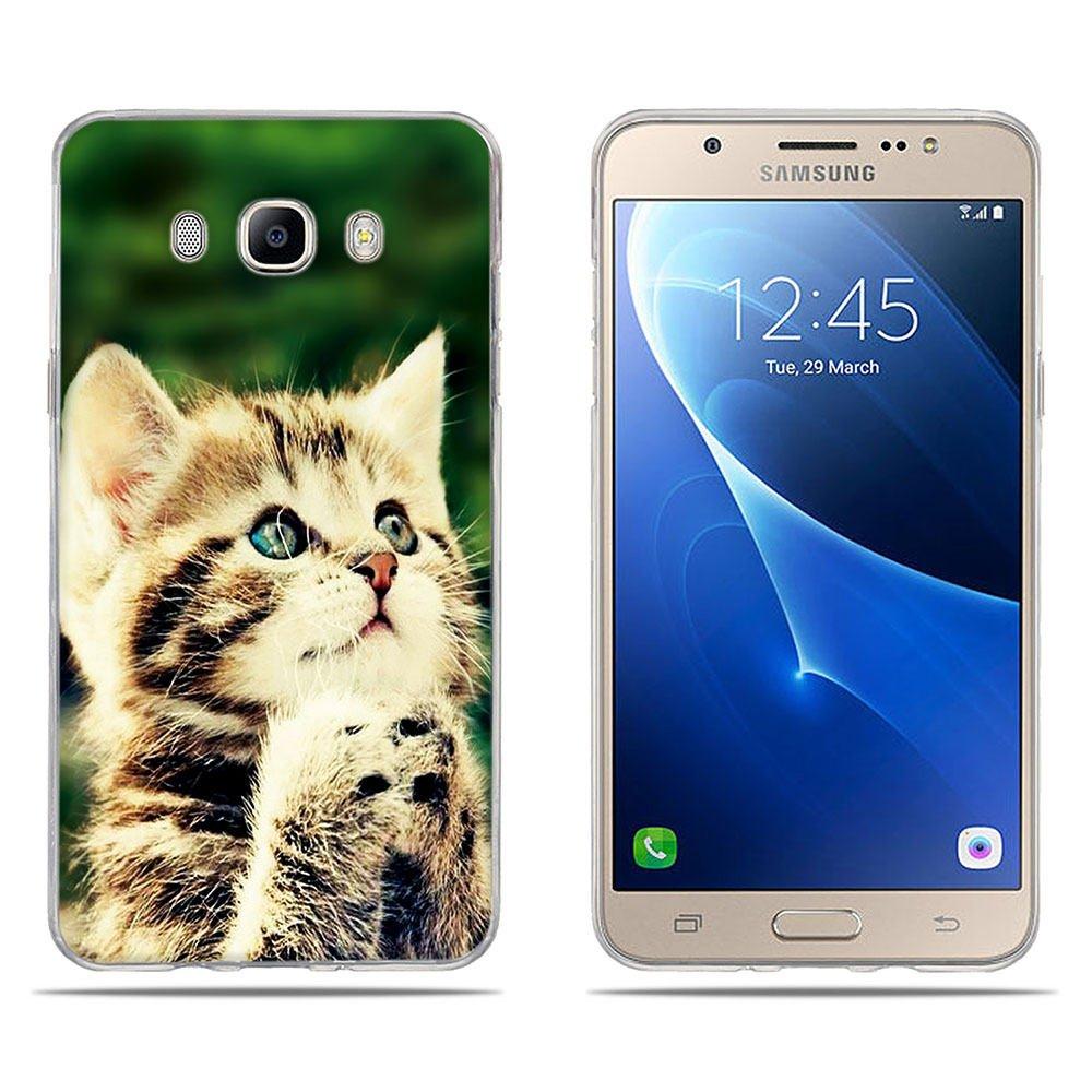 DIKAS Funda Samsung Galaxy J7 2016, Carcasa Samsung Galaxy J710/ J710F, 3D Alta de Artí stica, Fina, Flexible, Funda Protectora Anti-Golpes para Samsung Galaxy J7 2016/ J710/ J710F 5.5'- Pic: 01 3D Alta de Artística