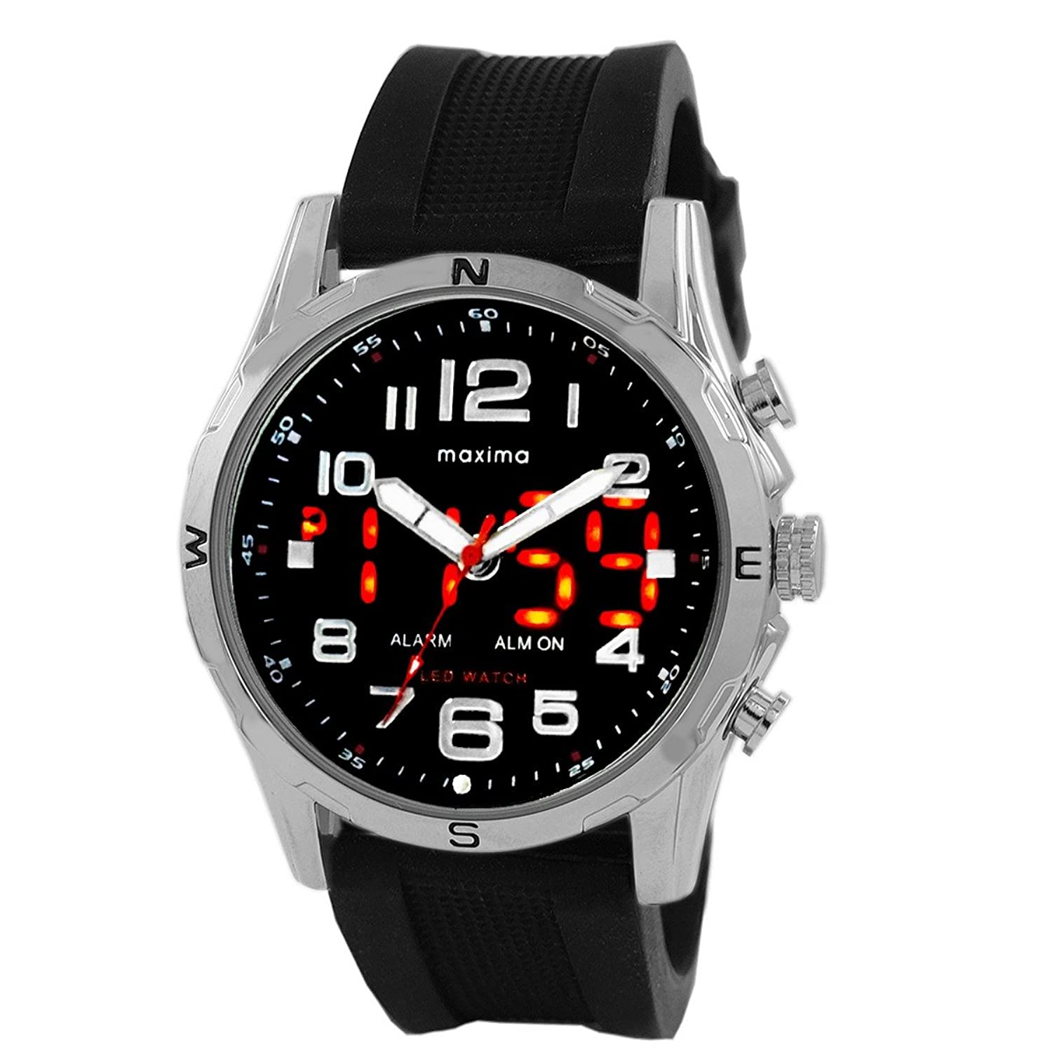 mens analog maxima men watch ego watches s by spot offers dial digital black