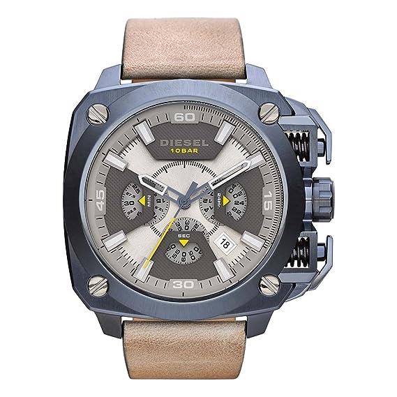 Diesel Hombre Reloj de pulsera bamf Cronógrafo Cuarzo Piel dz7342