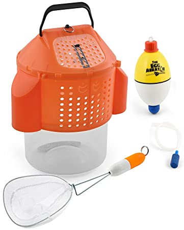 South Bend Bait Storage Combo Pack, Collapsible Bait Bucket, Egg Aerator  Bubble Pump,