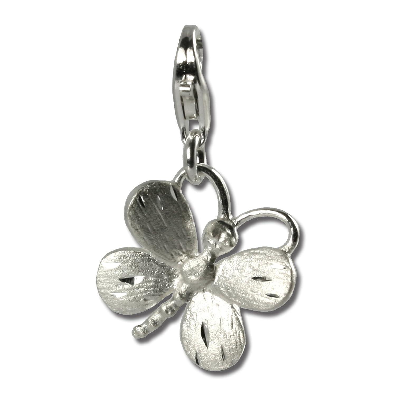 310569ca2067 Mariposa con circonitas mate SilberDream Charm 925 plata de ley colgante  para pulsera cadena pendientes FC503