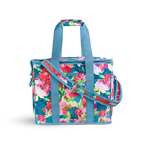 Vera Bradley Insulated Travel Soft Sided Collapsible Cooler Bag with  Handles  7c363ceb2f94e