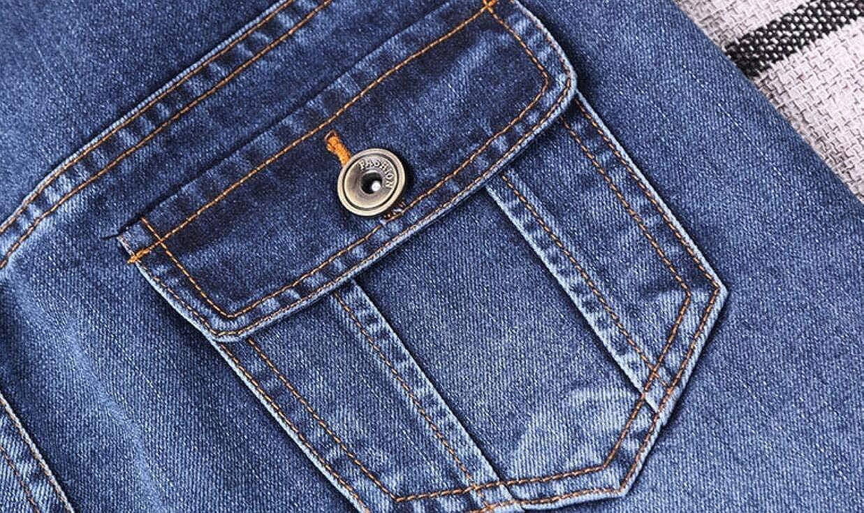 MOUTEN Womens Pockets A-Line High Waist Side Slit Classic Denim Midi Skirts