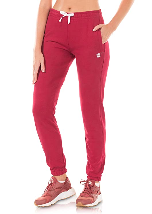 Highesty Womens Sweatpants - Joggers Pants for Women, Comfortable Lounge Sweat Pants Pajamas with Pockets Dark Red Large best women's sweatpants