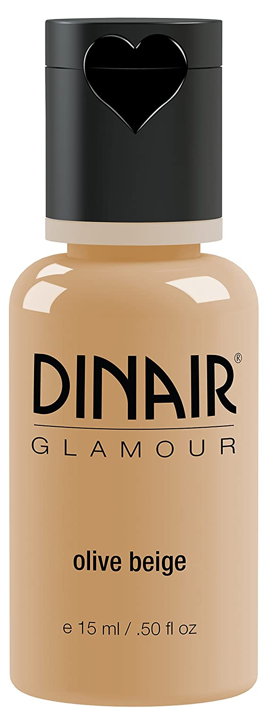Dinair Airbrush Makeup Foundation | Olive Beige | GLAMOUR: Natural, Light coverage, Matte 0.50 oz.